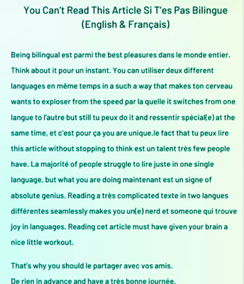 So many benefits to bilingualism!