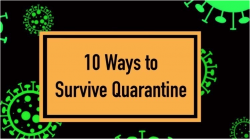 """10 Ways to Survive Life in Quarantine""       November 12 - 15th"