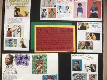A moving Black History Month tribute from the art room
