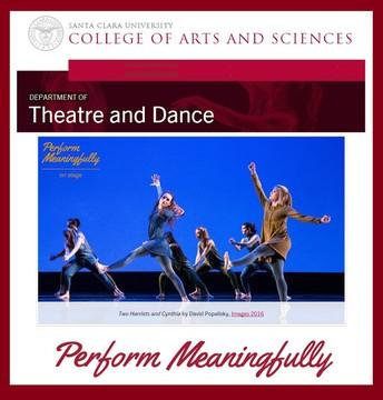 Santa Clara University Theatre and Dance Scholarship Auditions