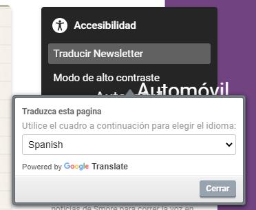 Botón del traductor de Google
