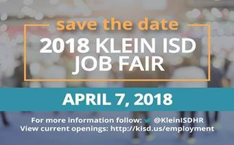 Klein ISD Job Fair is April 7th!