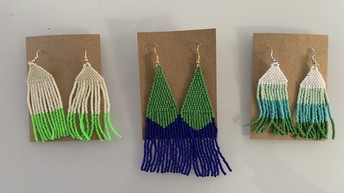Cool colors Neon green 25$, chevron blue & green 30$. Cool color block 25$