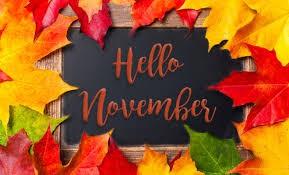 November Calendar Reminders