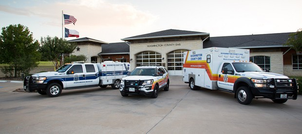 Pictured here: SRT Vehicle, Squad Vehicle, and Ambulance