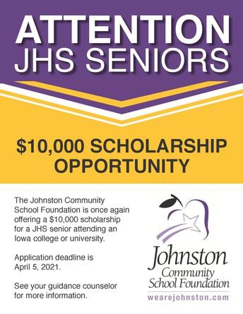 Schlenker Scholarship Offered to JHS Seniors