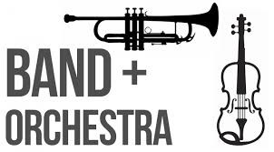 Band and Orchestra for 4th - 8th graders