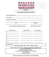 Department Membership Form