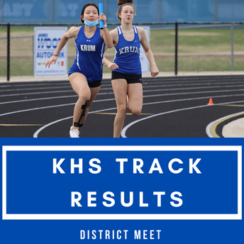 KHS Track at District Meet