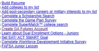 11th Grade Guidance Tasks (NAVIANCE)