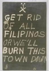 Anti-Filipino Sign, CA 1920s-1930s