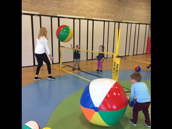 Students Learn Volleyball Skills!