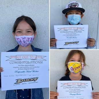 3rd Grade Shout Out Award Winners