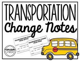 Change in Transportation Home