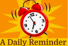 IMPORTANT REMINDER - Daily Student Symptom Screening