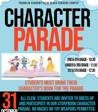 Elementary Character Parade