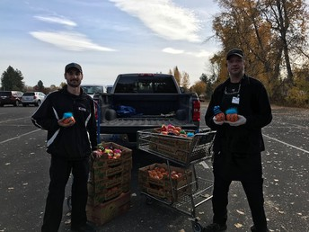A big thanks to Holiday Market for donating over 200 mini pumpkins to CES students. Thank you Eric & Steve/Holiday Market!
