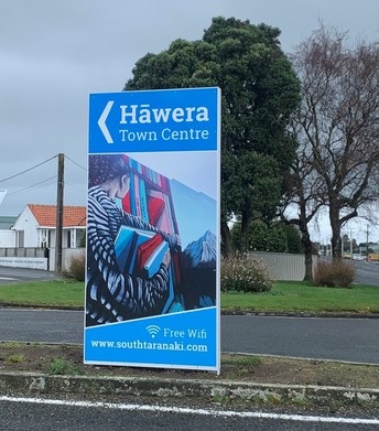 New Signage into Town