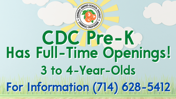Child Development Center Preschool Now Enrolling