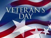Veterans Day Parade - November 10th - 8am