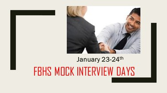 Mock Interview Days are January 30-31st