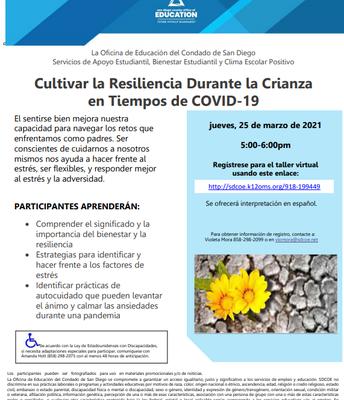 Cultivar la resiliencia durante la crianza en la época de COVID-19
