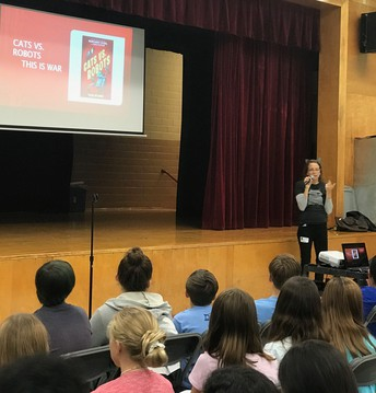 Margaret Stohl, author and video game creator, came to visit our students!