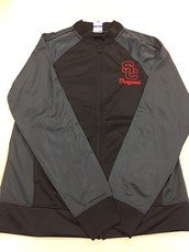 Men's Track Jacket-Grey and Black