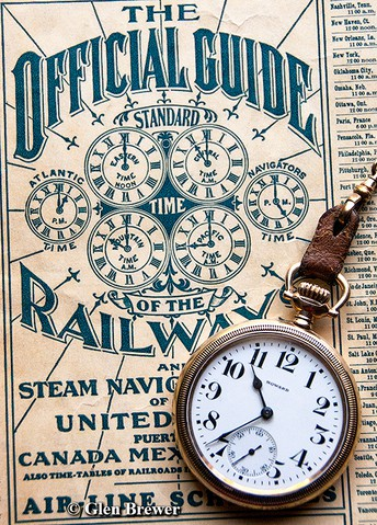 Railroads create the first time zones