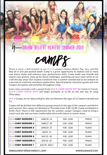 SUMMER CAMP FUN - LAST CALL!
