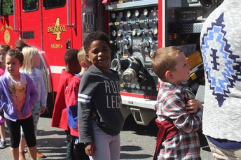 Looking up close at Fire Trucks!