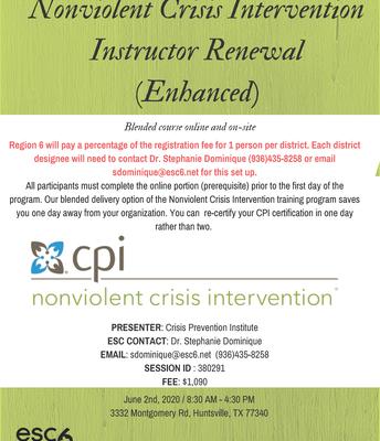 CPI TOT New Instructors