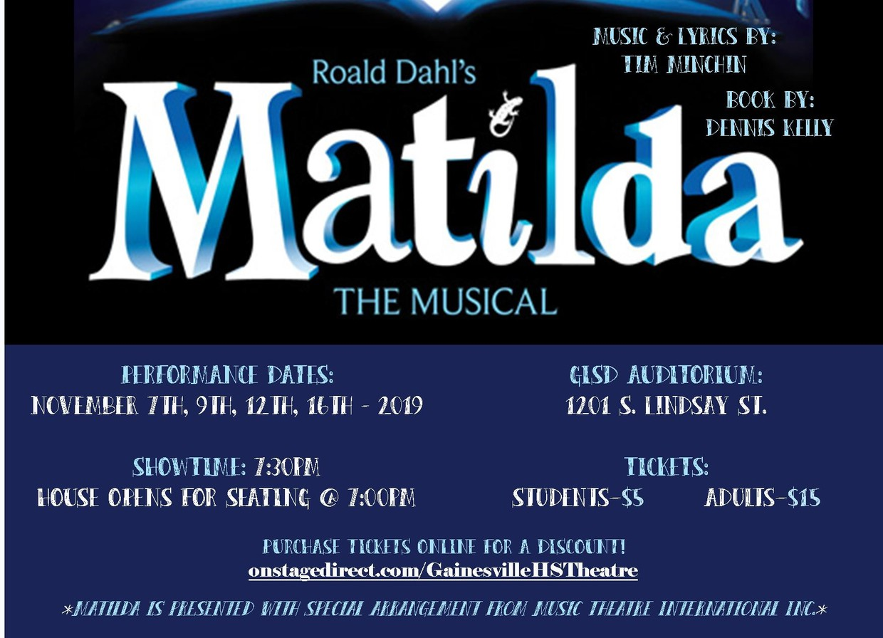 buy online tickets to Matilda