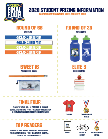 Read to the Final Four - Attention Elementary Schools - Action Required