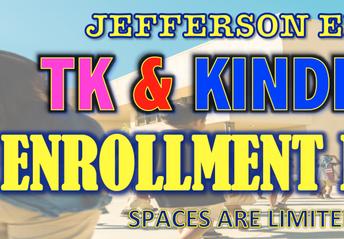 ¡La inscripción de TK y Kindergarten ya está abierta!