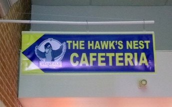New The Hawk's Nest Cafeteria Sign
