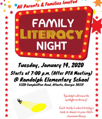 Join us for PTA and Literacy Night