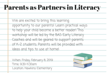 Parents as Partners in Literacy