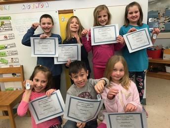 2nd grade Perfect Attendance - January