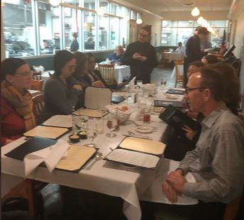Curriculum Coaches Meet Over Dinner at CEC