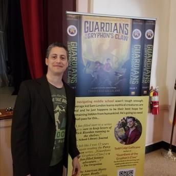 Author Todd Gallicano visits 7th Grade Core