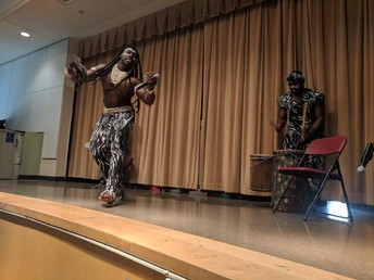 African Dance Troupe assembly