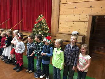 First graders singing for us!