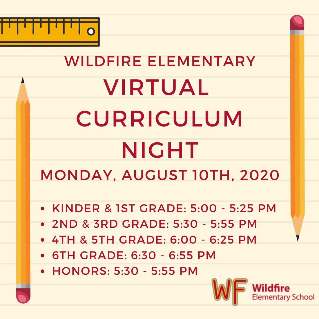Wildfire Virtual Curriculum Night Picture