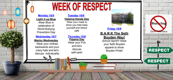 Seth Boyden Week of Respect Activities