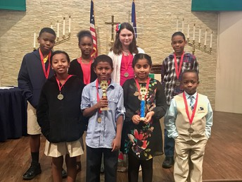 4th and 5th grade spelling bee contestants and winners