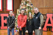 MMS Students Helped Trim the Tree at Home Office