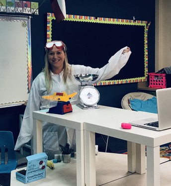 Ms. Clary adds a little fun to science!