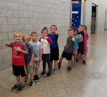 Kindergarten is rocking hallway expectations!