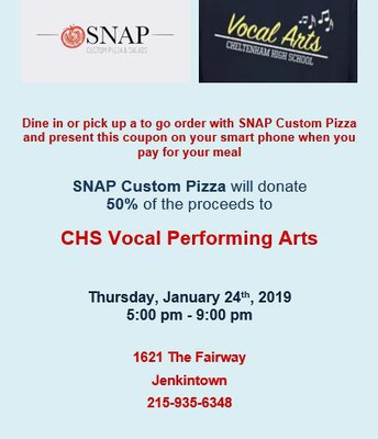 CHS Vocal Performing Arts SNAP Coupon